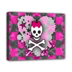 Princess Skull Heart Canvas 10  x 8  (Stretched)