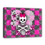Princess Skull Heart Canvas 16  x 12  (Stretched)