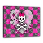 Princess Skull Heart Canvas 20  x 16  (Stretched)