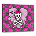 Princess Skull Heart Canvas 24  x 20  (Stretched)
