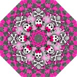 Princess Skull Heart Folding Umbrella