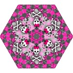 Princess Skull Heart Mini Folding Umbrella