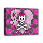 Princess Skull Heart Deluxe Canvas 14  x 11  (Stretched)