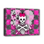 Princess Skull Heart Deluxe Canvas 16  x 12  (Stretched)