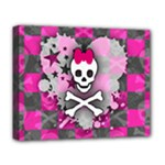 Princess Skull Heart Deluxe Canvas 20  x 16  (Stretched)