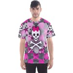 Princess Skull Heart Men s Sports Mesh Tee