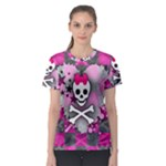 Princess Skull Heart Women s Sport Mesh Tee