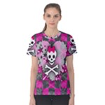 Princess Skull Heart Women s Cotton Tee