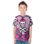 Princess Skull Heart Kids  Cotton Tee