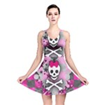 Princess Skull Heart Reversible Skater Dress