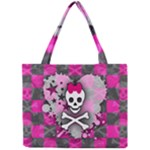 Princess Skull Heart Mini Tote Bag