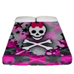Princess Skull Heart Fitted Sheet (Queen Size)