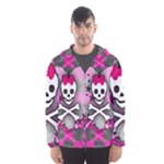 Princess Skull Heart Men s Hooded Windbreaker