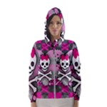 Princess Skull Heart Women s Hooded Windbreaker