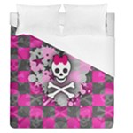 Princess Skull Heart Duvet Cover (Queen Size)