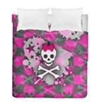 Princess Skull Heart Duvet Cover Double Side (Full/ Double Size)