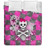 Princess Skull Heart Duvet Cover Double Side (California King Size)