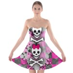 Princess Skull Heart Strapless Bra Top Dress
