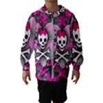 Princess Skull Heart Kids  Hooded Windbreaker