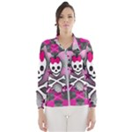 Princess Skull Heart Women s Windbreaker