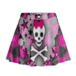 Princess Skull Heart Mini Flare Skirt