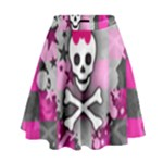 Princess Skull Heart High Waist Skirt