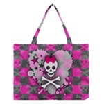 Princess Skull Heart Medium Tote Bag
