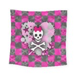 Princess Skull Heart Square Tapestry (Small)