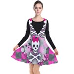 Princess Skull Heart Plunge Pinafore Dress