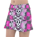 Princess Skull Heart Tennis Skirt