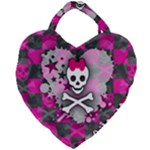 Princess Skull Heart Giant Heart Shaped Tote