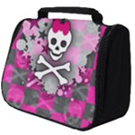Princess Skull Heart Full Print Travel Pouch (Big)