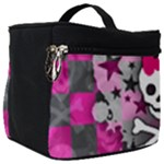 Princess Skull Heart Make Up Travel Bag (Big)