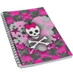 Princess Skull Heart 5.5  x 8.5  Notebook