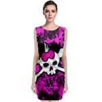 Punk Skull Princess Sleeveless Velvet Midi Dress
