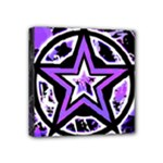 Purple Star Mini Canvas 4  x 4  (Stretched)