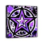 Purple Star Mini Canvas 6  x 6  (Stretched)
