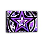 Purple Star Mini Canvas 6  x 4  (Stretched)