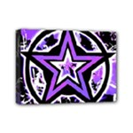 Purple Star Mini Canvas 7  x 5  (Stretched)