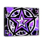 Purple Star Canvas 10  x 8  (Stretched)