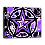 Purple Star Canvas 14  x 11  (Stretched)