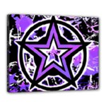 Purple Star Canvas 20  x 16  (Stretched)