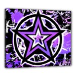 Purple Star Canvas 24  x 20  (Stretched)