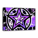 Purple Star Canvas 18  x 12  (Stretched)