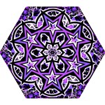 Purple Star Mini Folding Umbrella