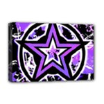 Purple Star Deluxe Canvas 18  x 12  (Stretched)