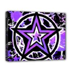 Purple Star Deluxe Canvas 20  x 16  (Stretched)