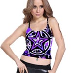 Purple Star Spaghetti Strap Bra Top