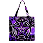 Purple Star Grocery Tote Bag
