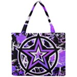 Purple Star Mini Tote Bag
